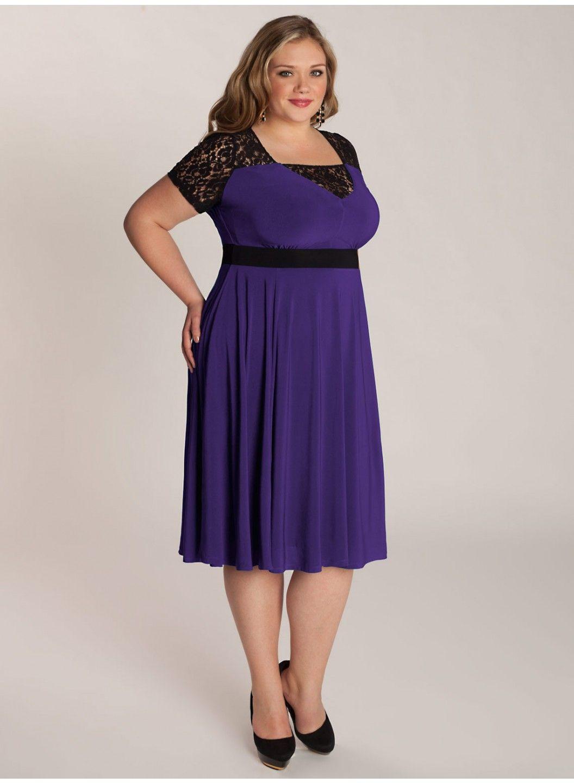 Chantelle Plus Size Dress in Heliotrope - Dresses by IGIGI | igigi ...