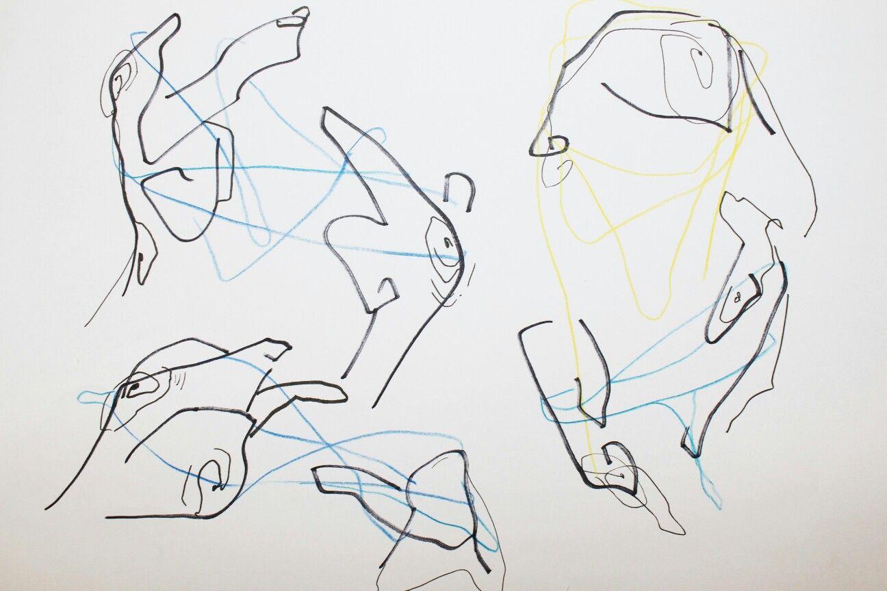 실뜨기::양 손가락에 실을 얼기설기 얽어 주고받는 실뜨기를 표현해보았습니다. 손가락 관절의 섬세한 움직임으로 다양한 모양을 연출하는 흥미로운 제스처라고 생각합니다.