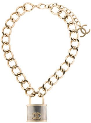 Chanel Padlock Necklace With Images