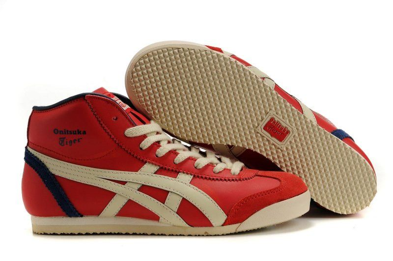 Buy Cheap Asics Sneakers Tiger Mexico 66 Paraty Shoes Red/Grey