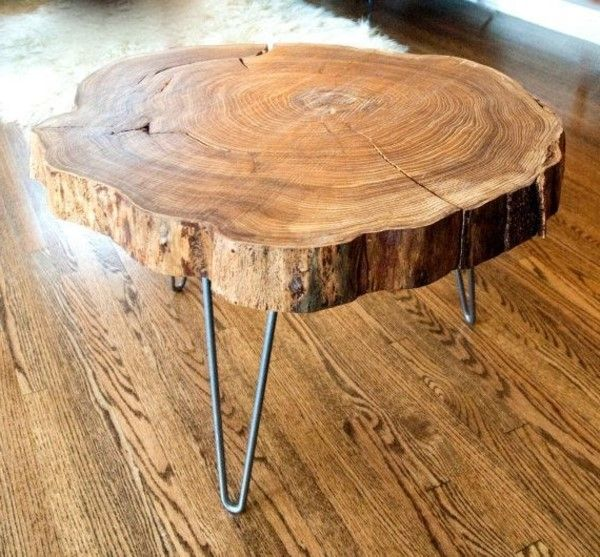 Tolle Holzstamm Couchtisch Upcycle Table Wood Slab Coffee