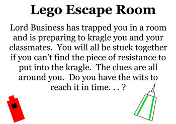 Escape Room Challenge with systems of equations, order of ...