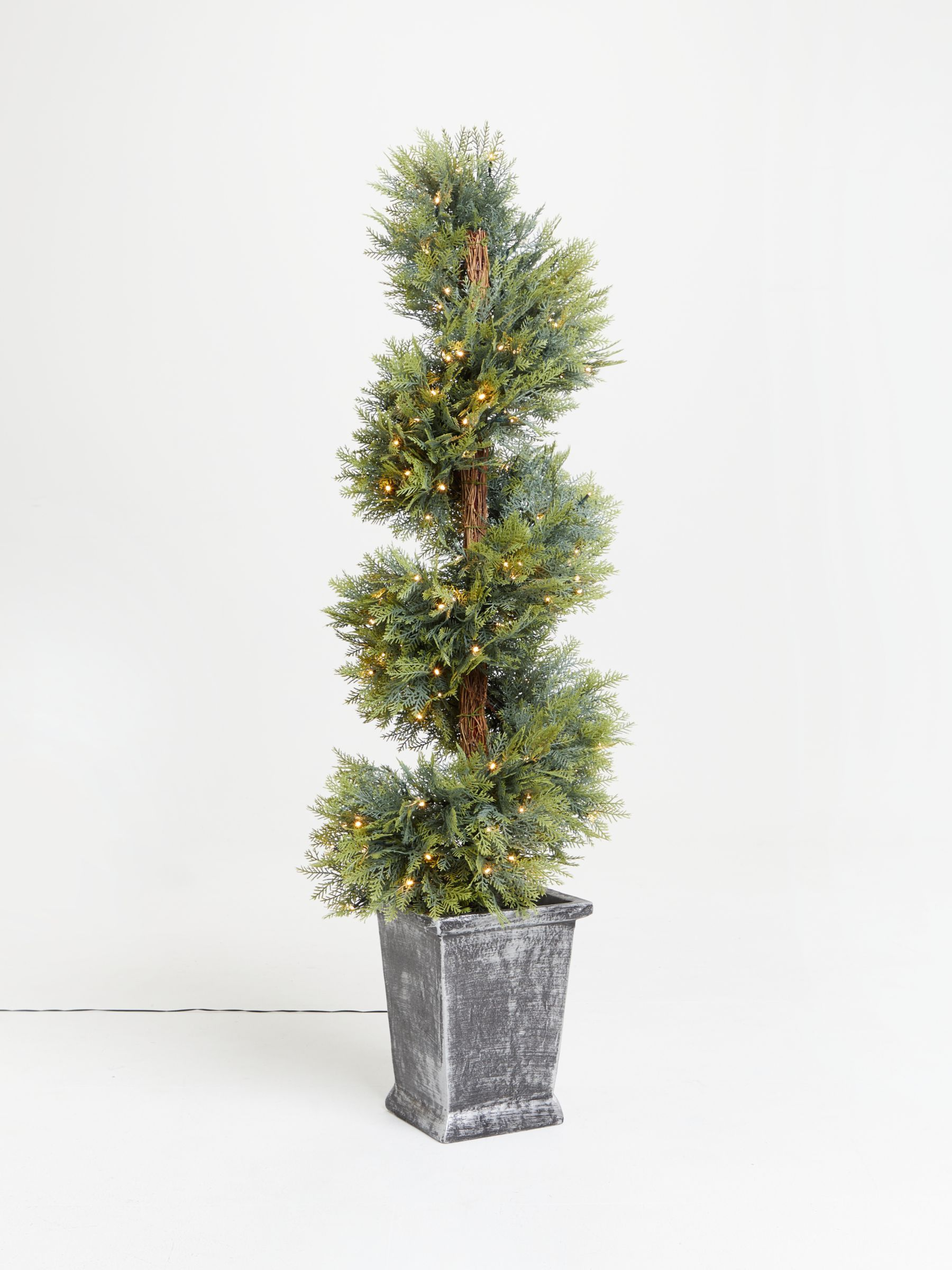 John Lewis & Partners Potted Topiary Prelit Christmas
