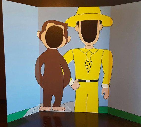 Curious George Painted Photo Op Display Cutout Board cumple yesid Curious george birthday