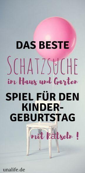 Photo of Kindergeburtstagsideen – Schatzsuche in Haus und Garten