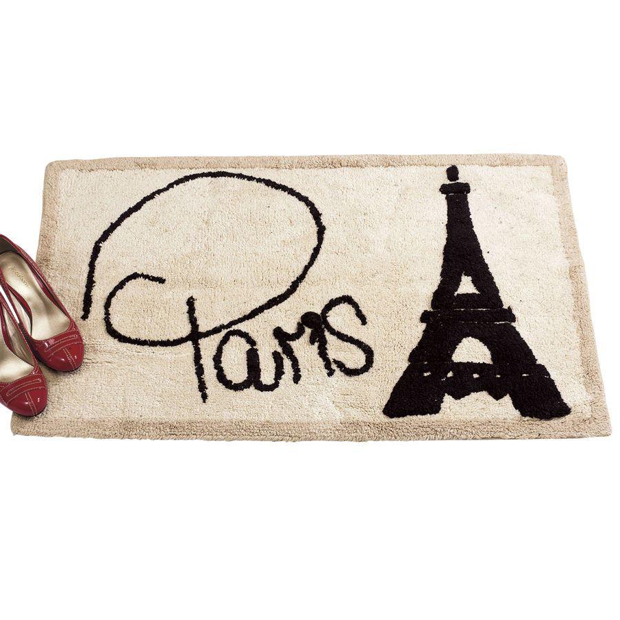 Parisian Chic Bath Rug Furniture Home Decor Home Furnishings Home Accessories Gifts Expressions Paris Decor Room Themes Paris Theme
