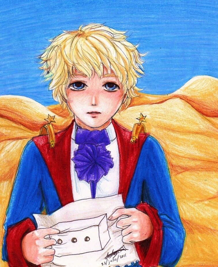 Fanart Le Petit Prince Very Nice I Love His Hair And Eyes The Little Prince Prince Drawing Fan Art