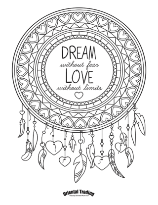 dreamcatcher adult coloring page 320 414 coloring coloring pages nature cute coloring. Black Bedroom Furniture Sets. Home Design Ideas