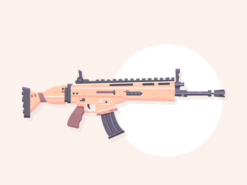 Lock N Load Fortnite Scar Dribbble Game Art Guns Games