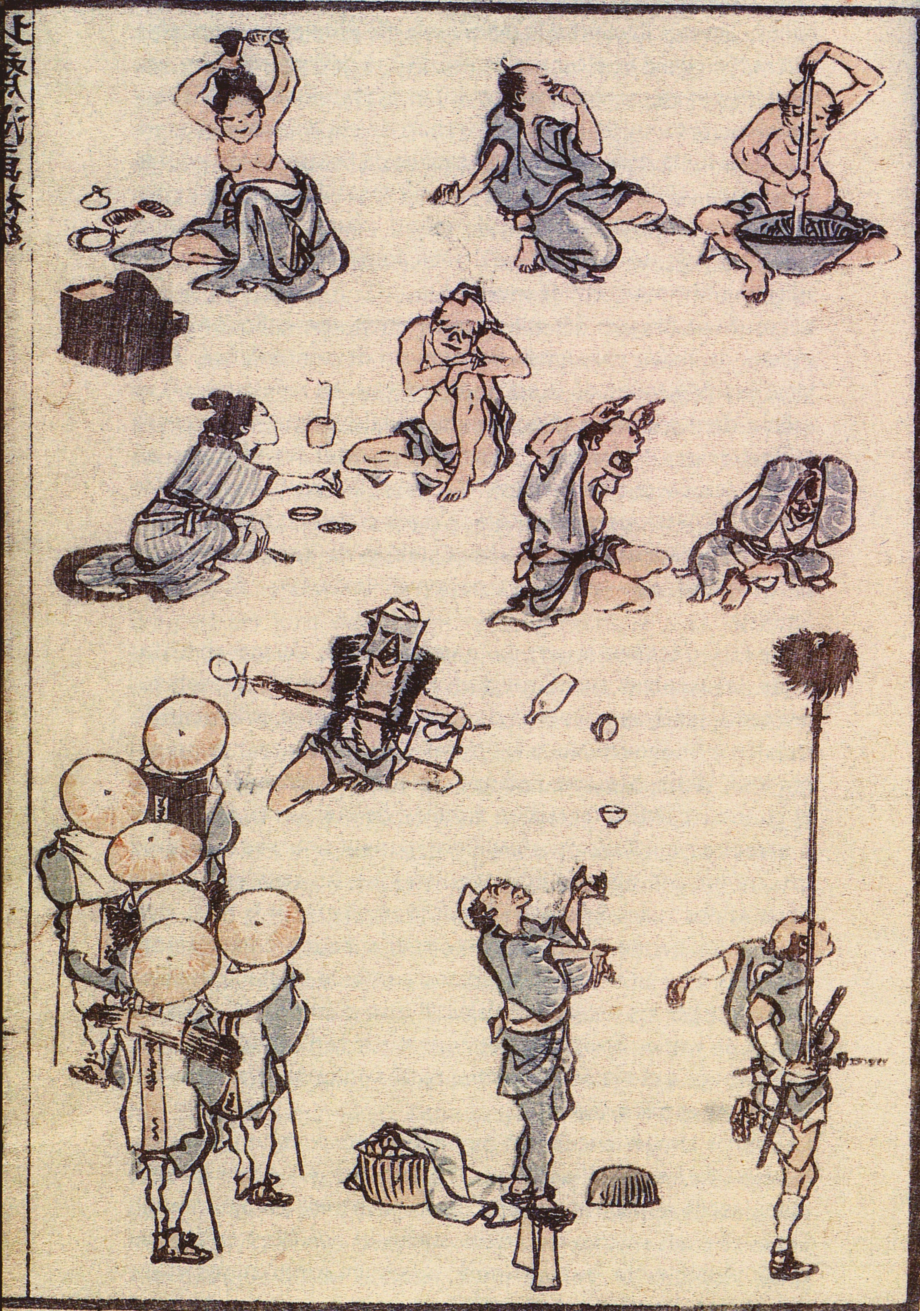 1814-1849 葛飾  Katsushika Hokusaï La Manga Estampe