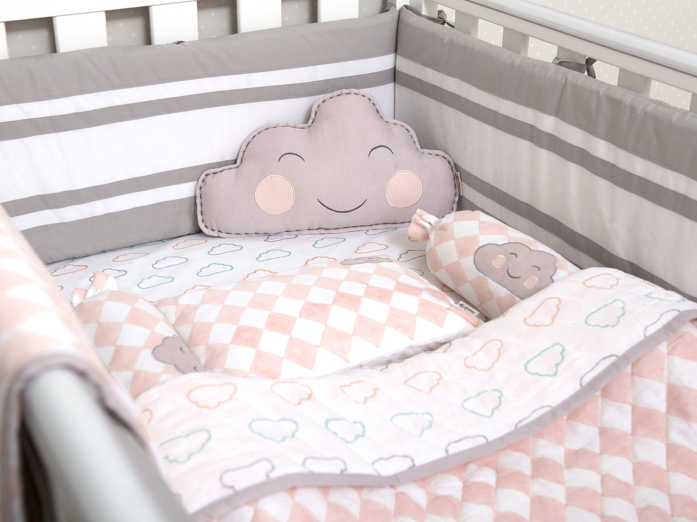 Pink Cloud Organic Cot Baby Bedding Set | Organic Crib ...