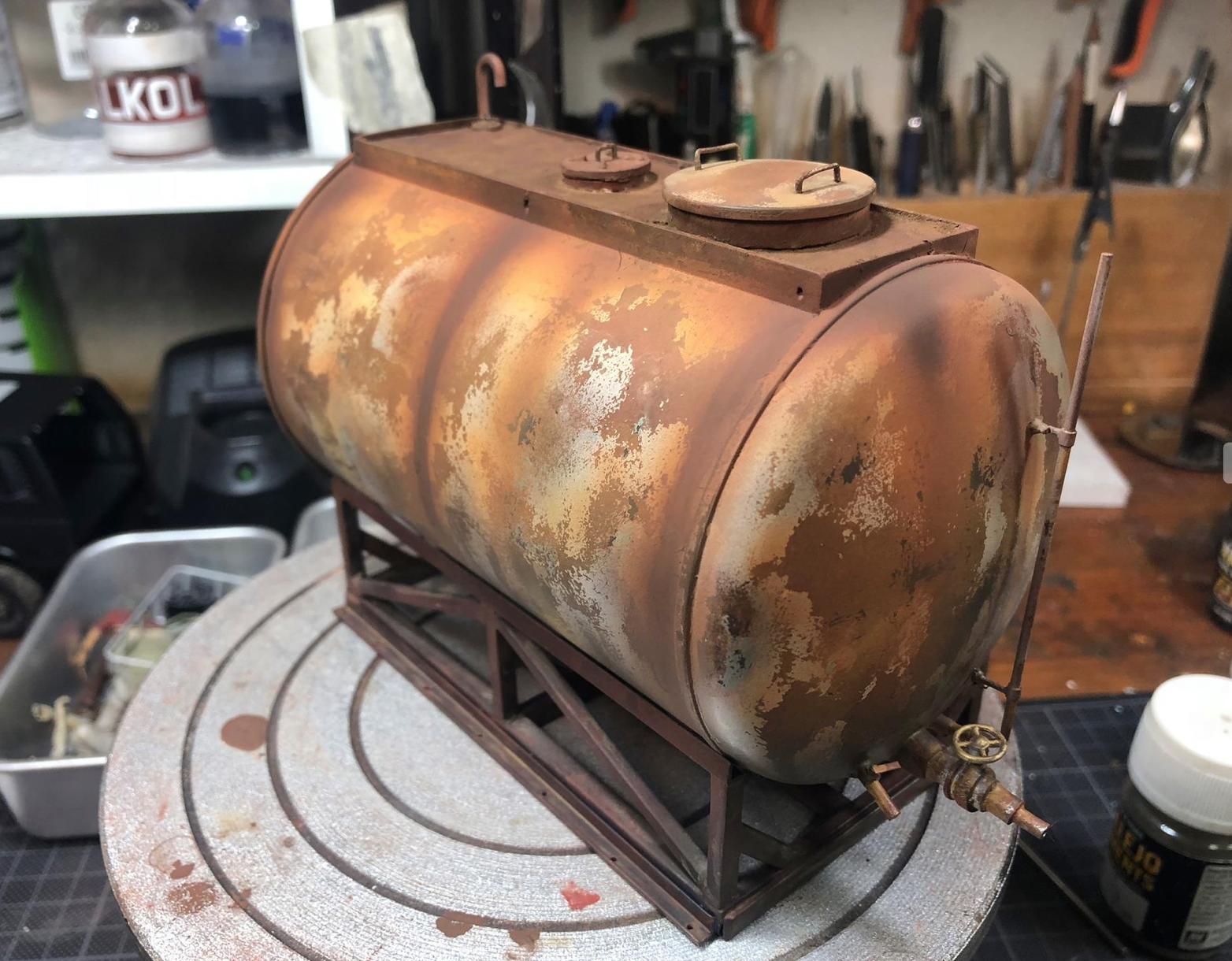 1/24 Rusty Water Tank  Scratch Build By Barlas Pehlivan | Barlas