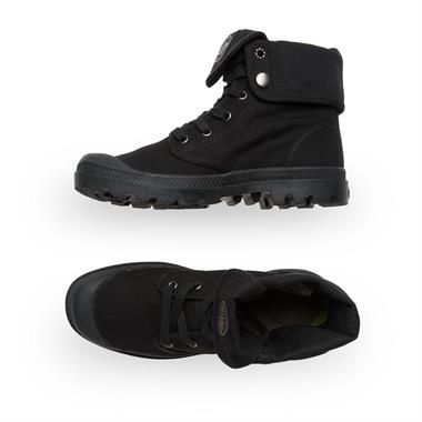 e589567e536a Women's Palladium Baggy Canvas Boots Black/Black. Shop Palladium for Men  and Women Online @ Platypus Shoes. Free Shipping.