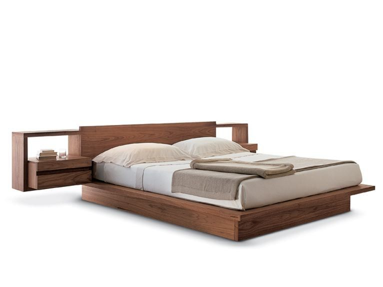 Buy Online Torino Bed By Riva 1920 Multi Layer Wood Double Bed