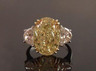8.12ct Oval Canary Diamond Ring