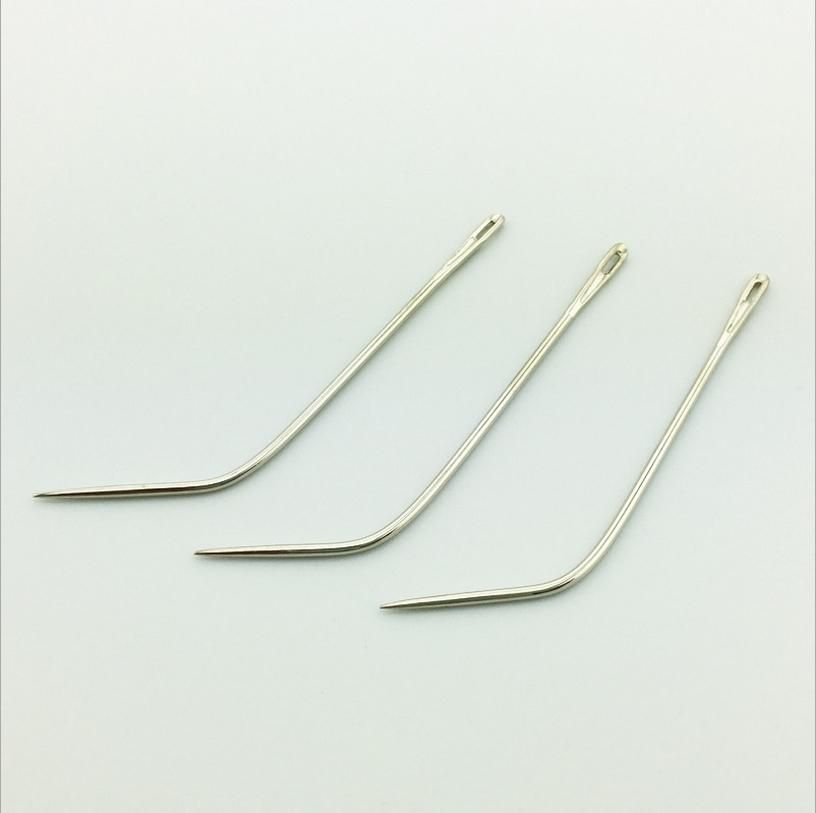50pcs J Type Weaving Needle Hook Sewing Needles For Human Hair