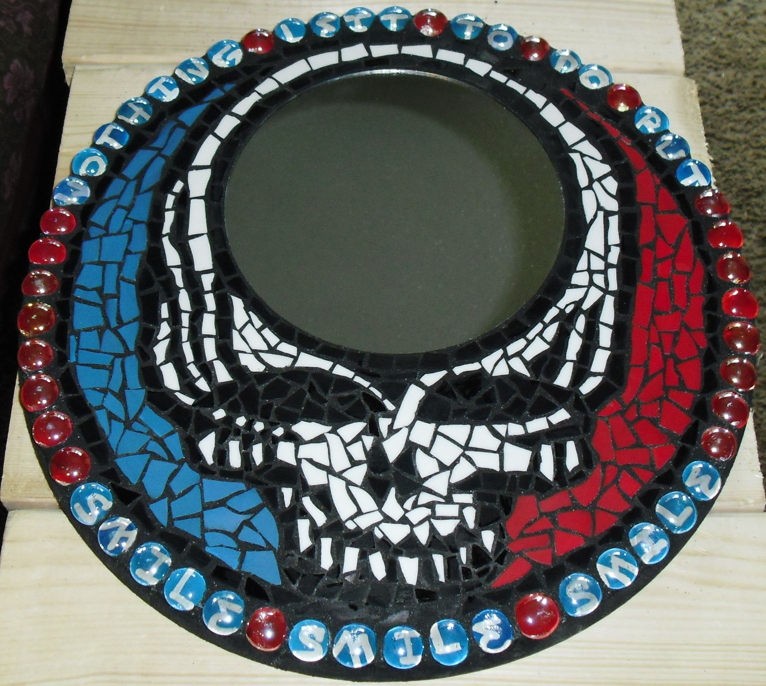 Grateful Dead Stealie Wall Mirror Mosaic With Nothing Left To
