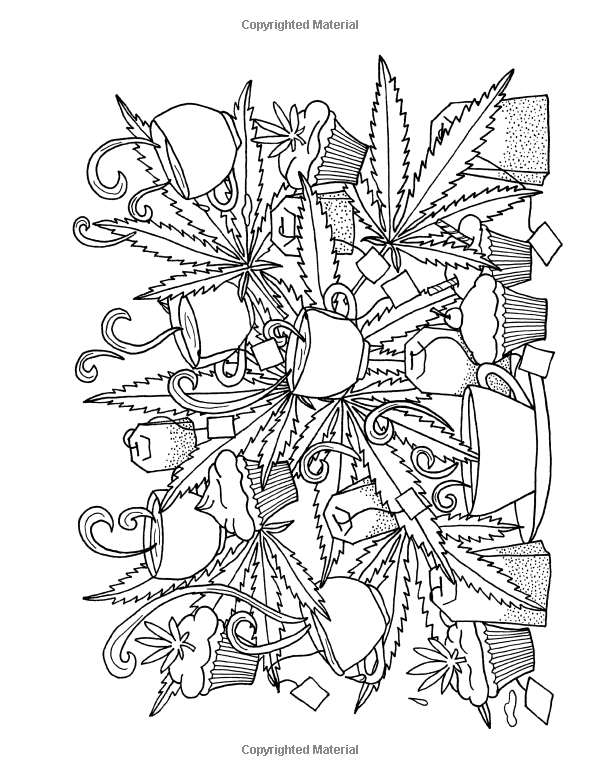 marijuana coloring pages for adults - colorado cannabis adult coloring book