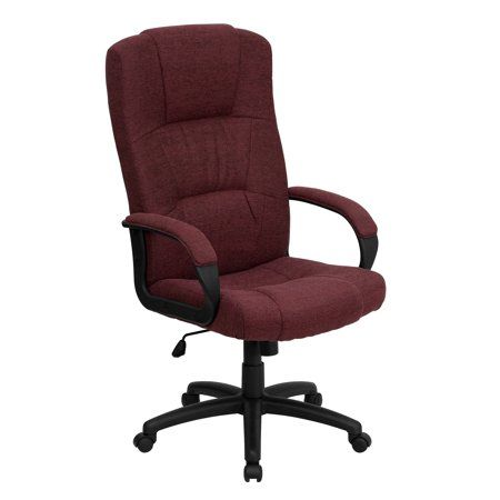 High Back Executive Fabric Office Chair Multiple Colors Size