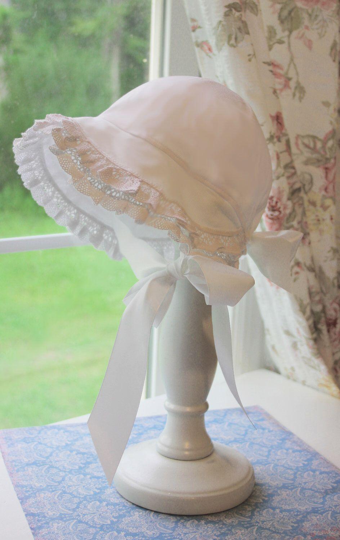 dba035738 Christening Bonnet - Baby Bonnet - Baby Hat - Summer Sun Bonnet ...