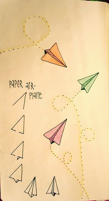 Paper Airplanes Are Fun To Draw Bullet Journal Bullet