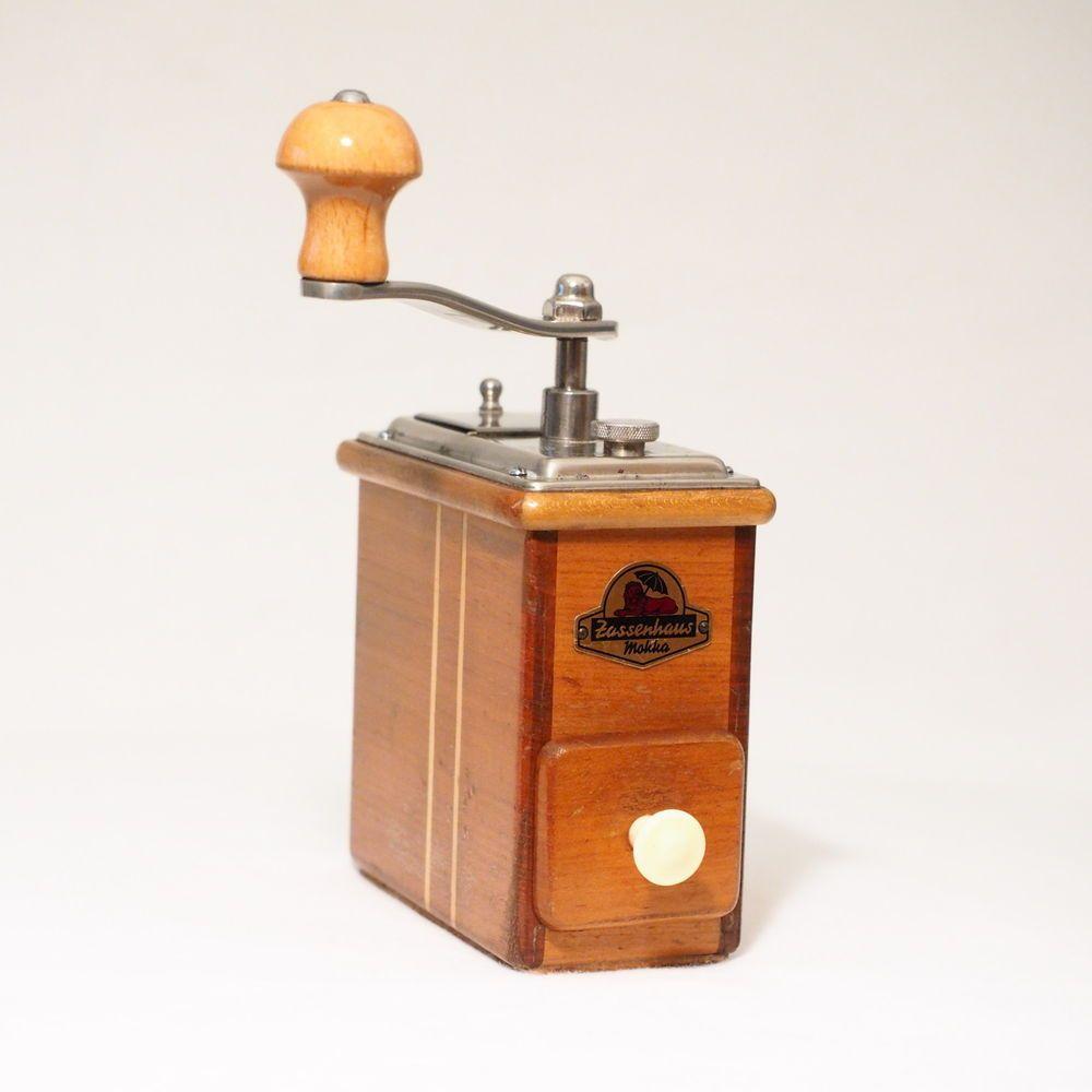 Rare Vintage Zassenhaus Rosel 498 German Cherry Wood Coffee Grinder Mocha Mill Coffee Grinder Coffee Uses Vintage Coffee