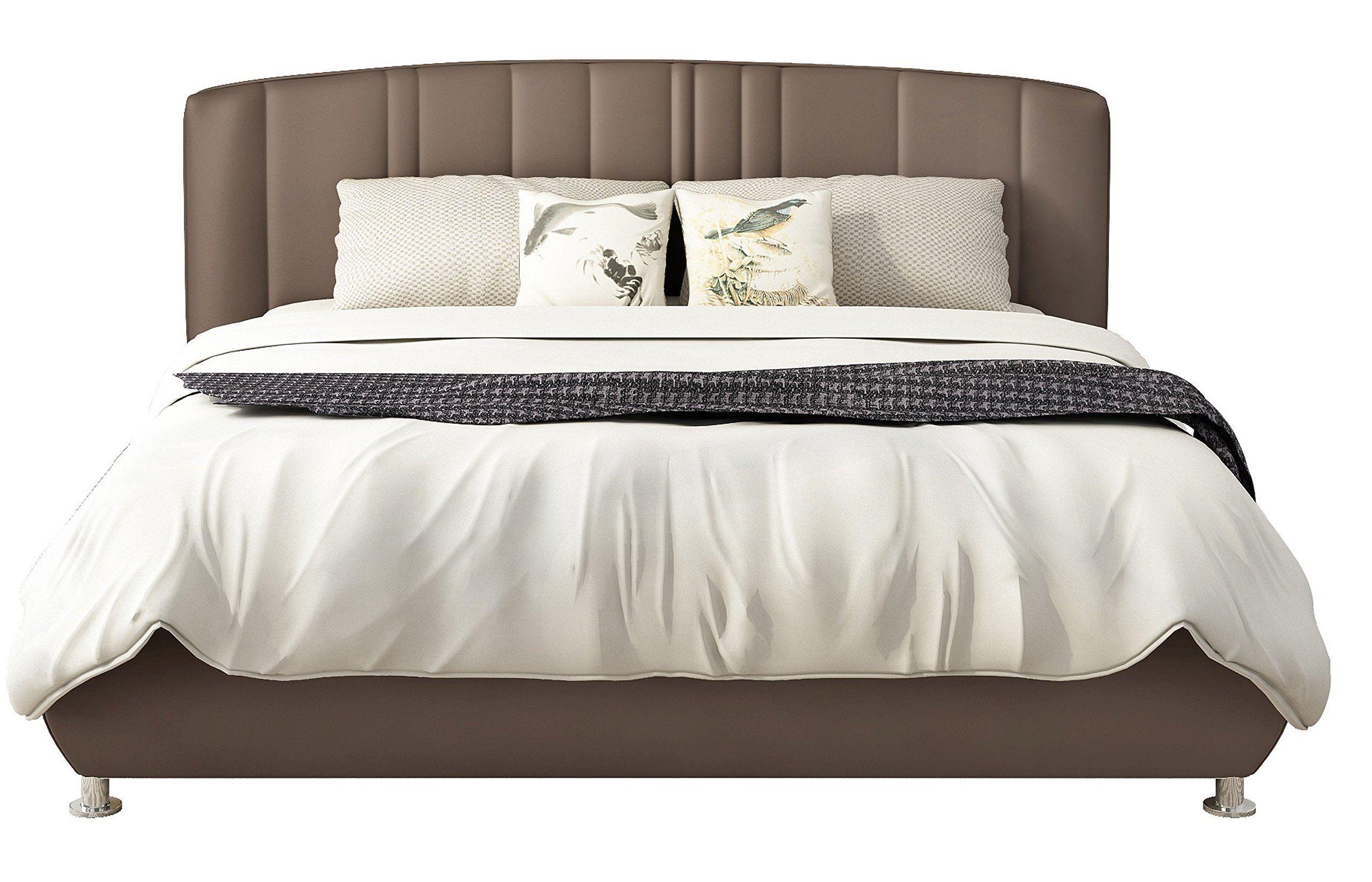 Iq Bed Modell Frisco Polsterbett Nuss 200 X 160 Kopfteil 107 Cm Hoch In 2020 Bed Furniture Home