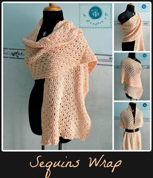 crochet wrap free pattern | Haken | Pinterest | Chal, Ponchos y Tejido