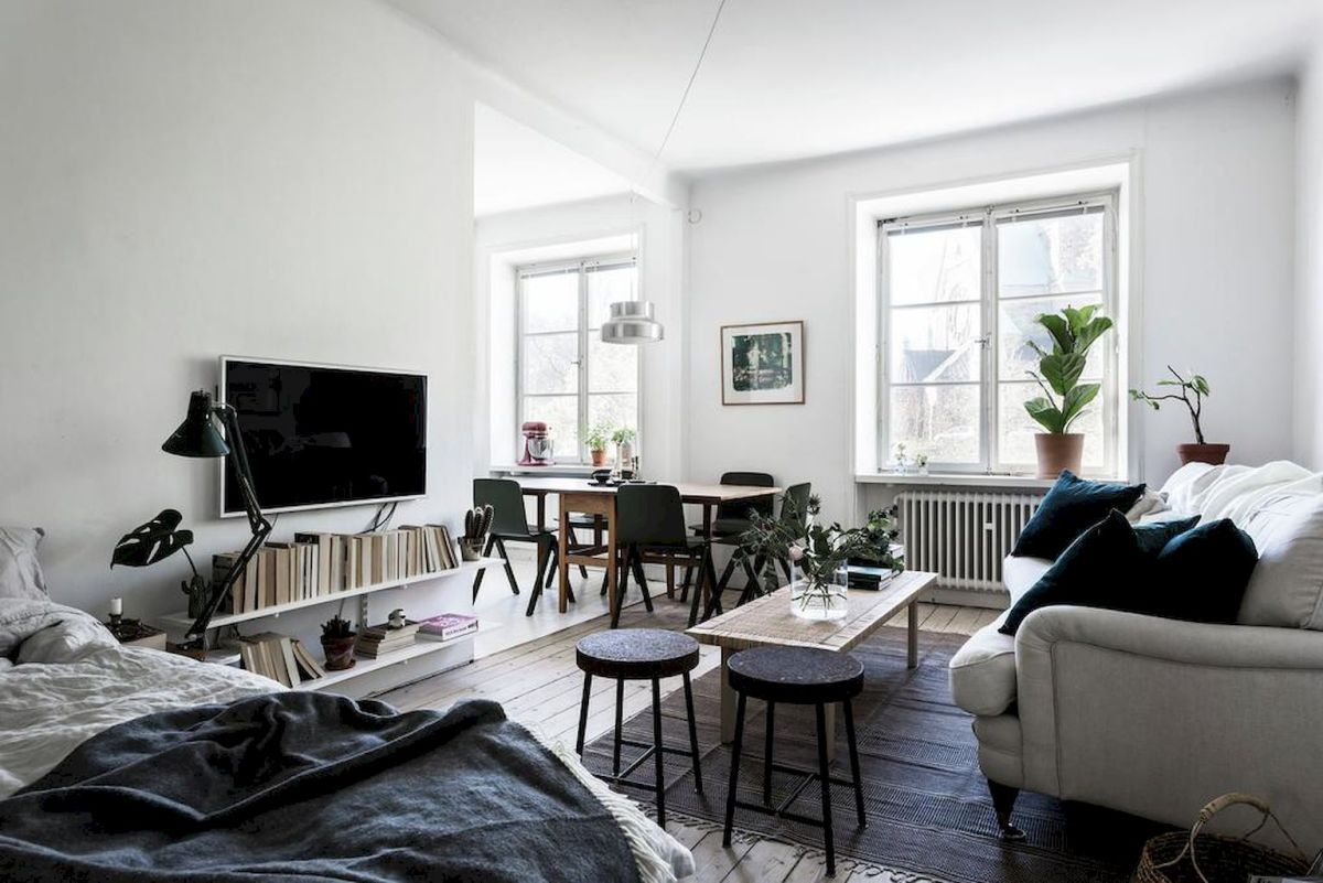 65 stylish and simple scandinavian studios apartment decor ideas (47 ...