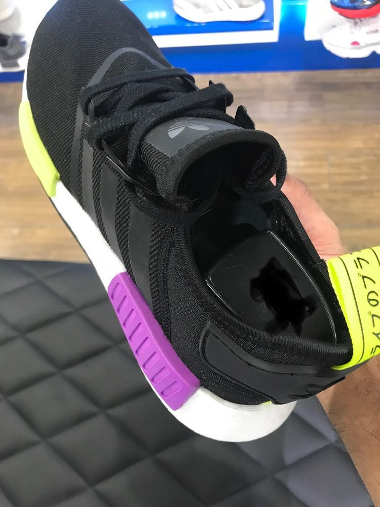 d36c4adee4db7 Adidas NMD R1 Black   Shock Purple Size 10 Men Boost White Semi Solar  Yellow  fashion  clothing  shoes  accessories  mensshoes  athleticshoes  (ebay link)