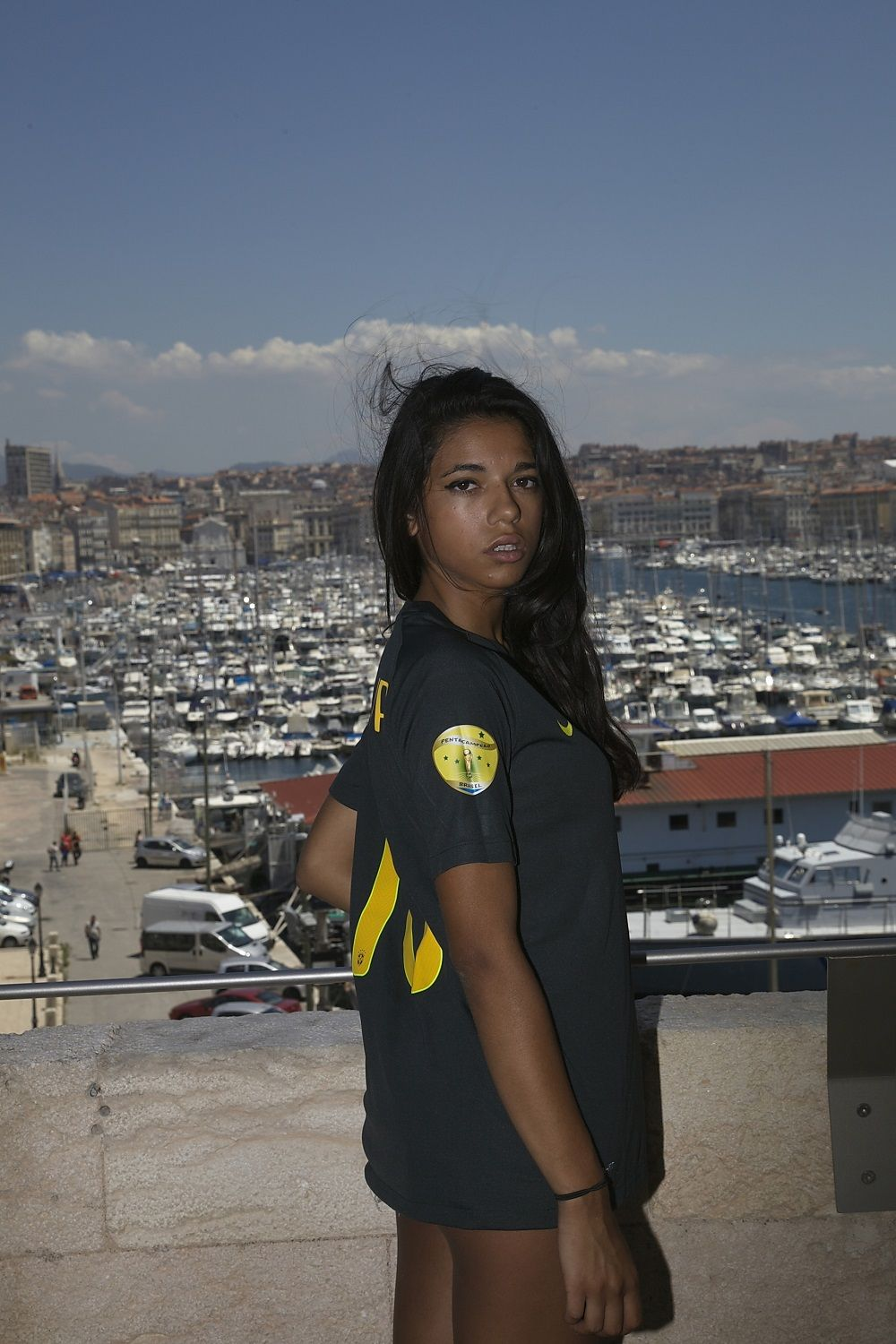 Brazil 3rd jersey brasil girl vieux port a marseille clouds in the sky soccer jersey - Club house vieux port marseille ...