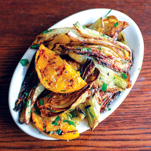 The Local Palate - Finocchio Arrosto con Aranci <br /> (roasted fennel with grilled oranges and basil)