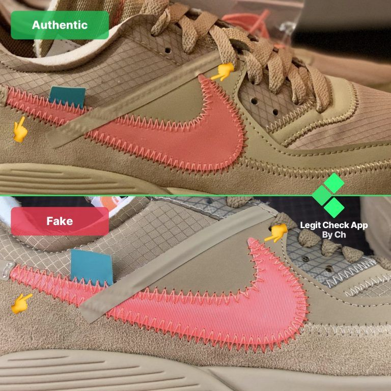 Real Vs Fake OffWhite Air Max 90 Desert Ore OW AM90