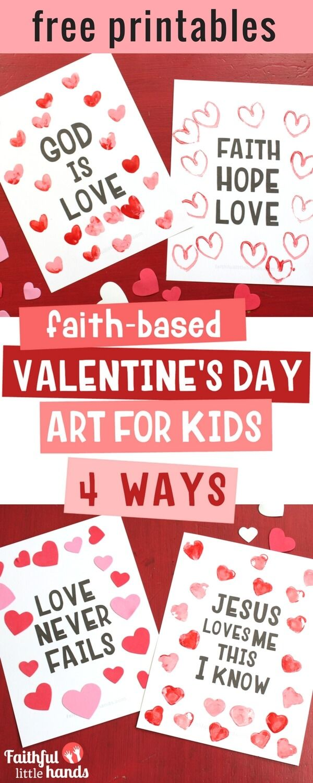 Valentine\'s Day Kids Bible Art 4 Ways | Sunday school, School and ...