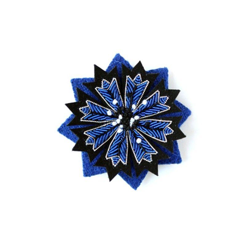 Bordado A Mano Broche De Ancre Azul Macon Y Lesquoy ZxEEE