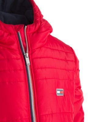 0bcb78f0 Tommy Hilfiger Big Boys Bailey Hooded Puffer Jacket - Red S (8 ...
