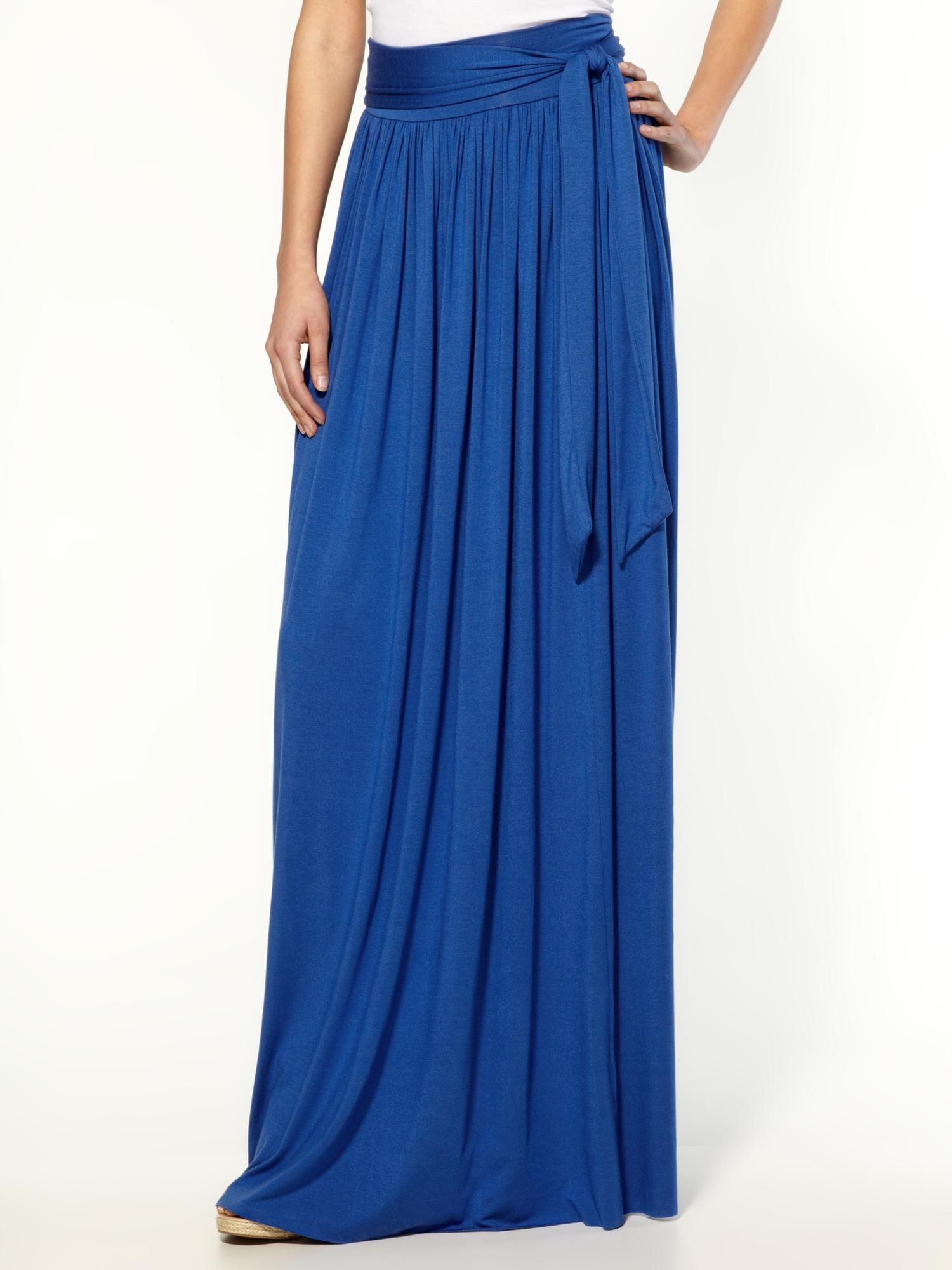 Maxi skirt royal blue super soft jersey style pinterest blue