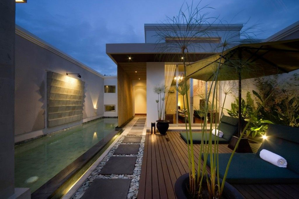 Iluminacion Exterior Para Jardin Y Fachadas Tropical Homes Bali | Balinese Villa Home Plans Small