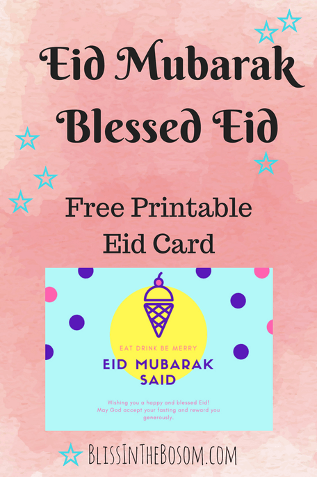 graphic regarding Eid Cards Printable referred to as Rejoice Eid with an Incredible No cost Eid Card Printable identification