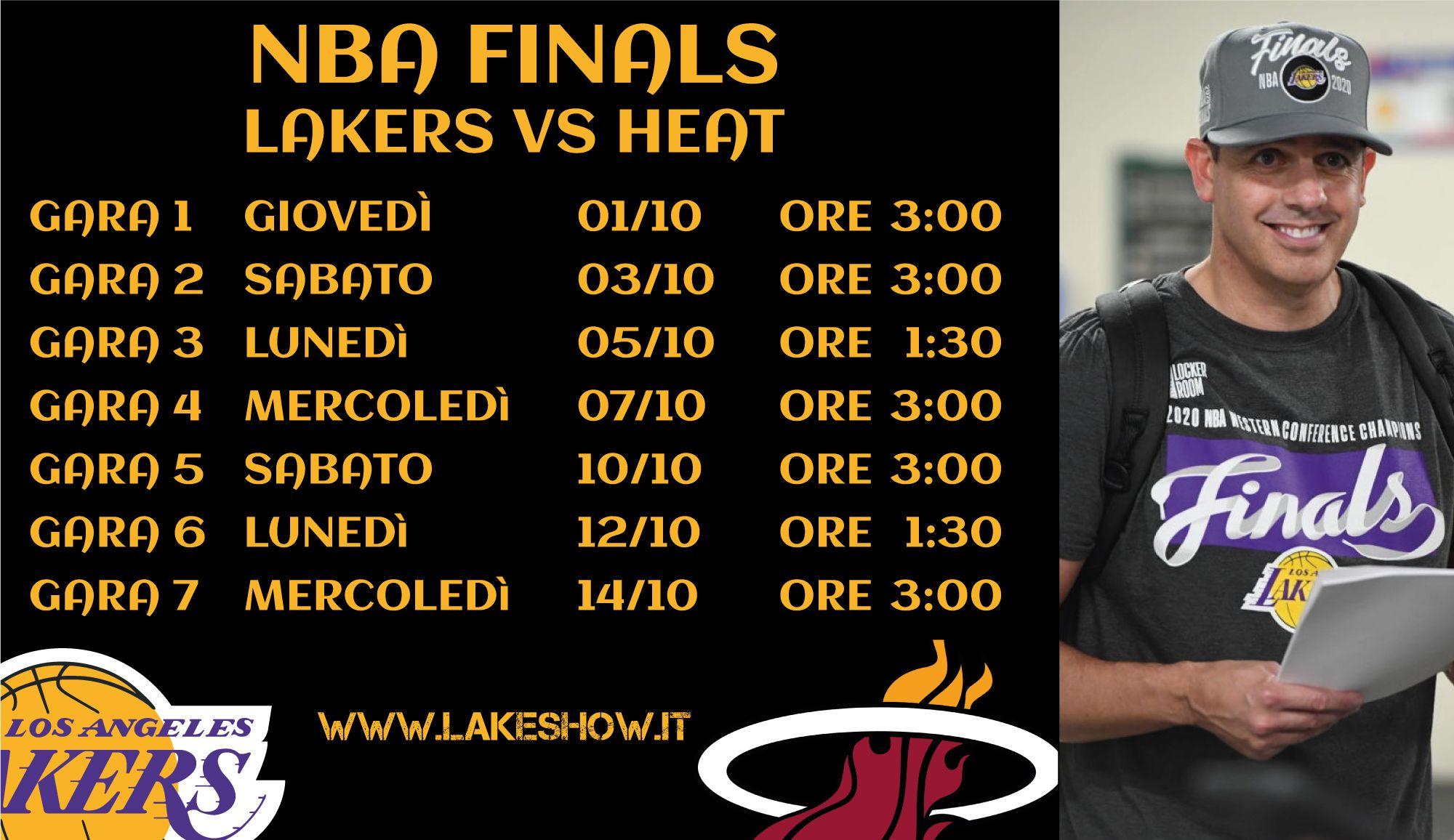 Dÿ Saranno I Miami Heat Gli Avversari Dei Los Angeles Lakers Nelle Nba Finals Dÿ Gara 1 A In Programma Nella Notte 3 00 Italiane Tra Mercol Nel 2020 Nba Programma
