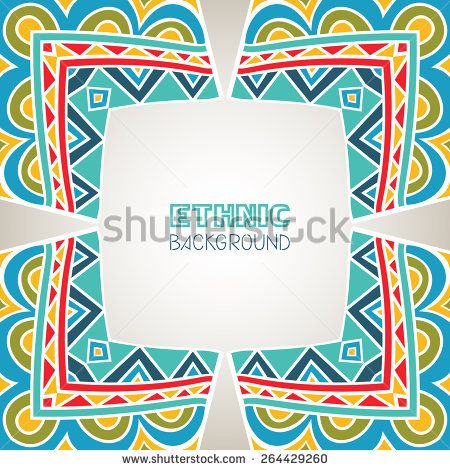 Background with mexican frame abstract border with bright ethnic background with mexican frame abstract border with bright ethnic pattern template for greeting card invitation or poster vector file is buy this stock stopboris Images