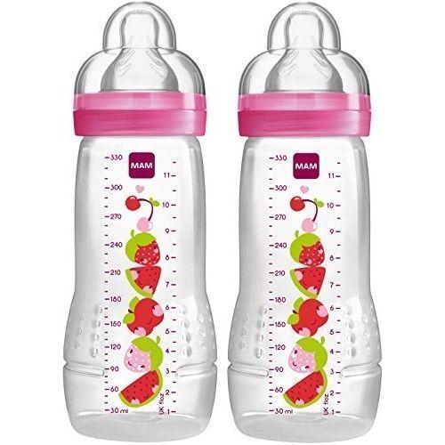 Boy MAM Baby Bottles for Breastfed Babies MAM Baby Bottles 2-Co... 11 Ounces