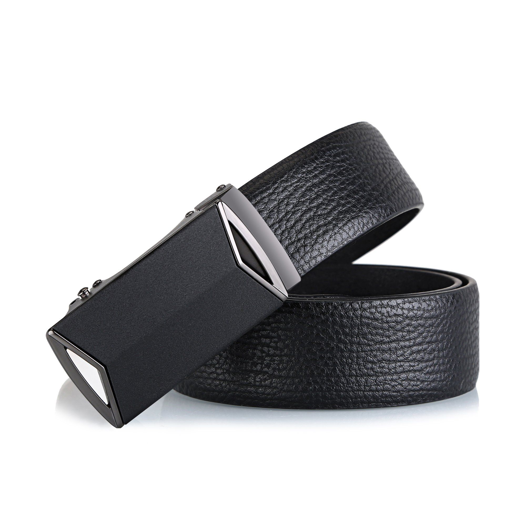 Ratchet Click Belt mens Leather Dress Belt with Automatic