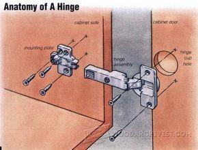 Installing European Hinges   Cabinet Door Construction And Techniques |  WoodArchivist.com