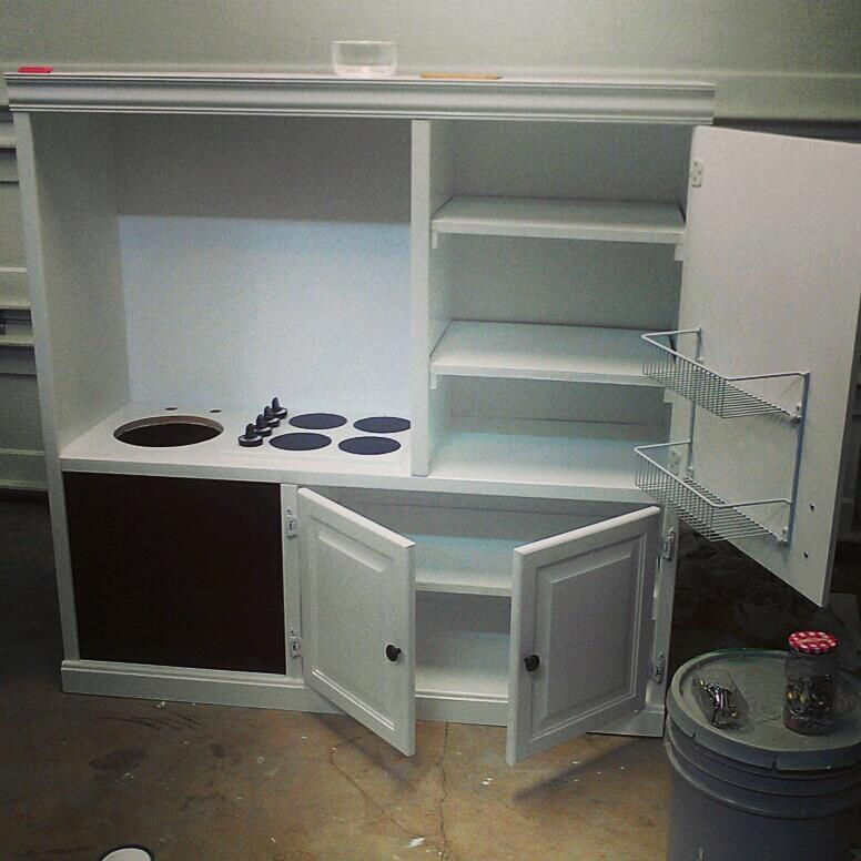 Play Kitchen From Entertainment Center  Play Kitchen from