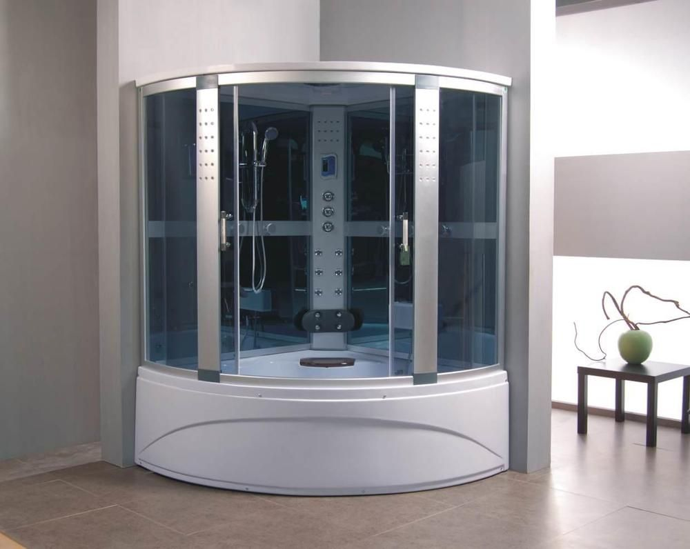 1500 x 1500 Whirlpool Corner Bath & Panel Steam Shower Enclosure ...