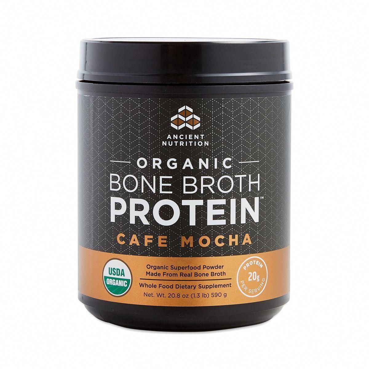 Ancient nutrition organic bone broth protein cafe mocha