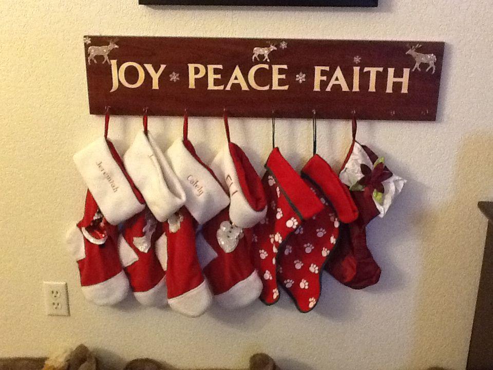 Christmas Stocking Holder 1. Shelf board 2. Letters from