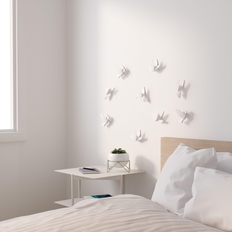 Photo of Dekoracje ścienne Hummingbird (9-set) 10×13 cm białe
