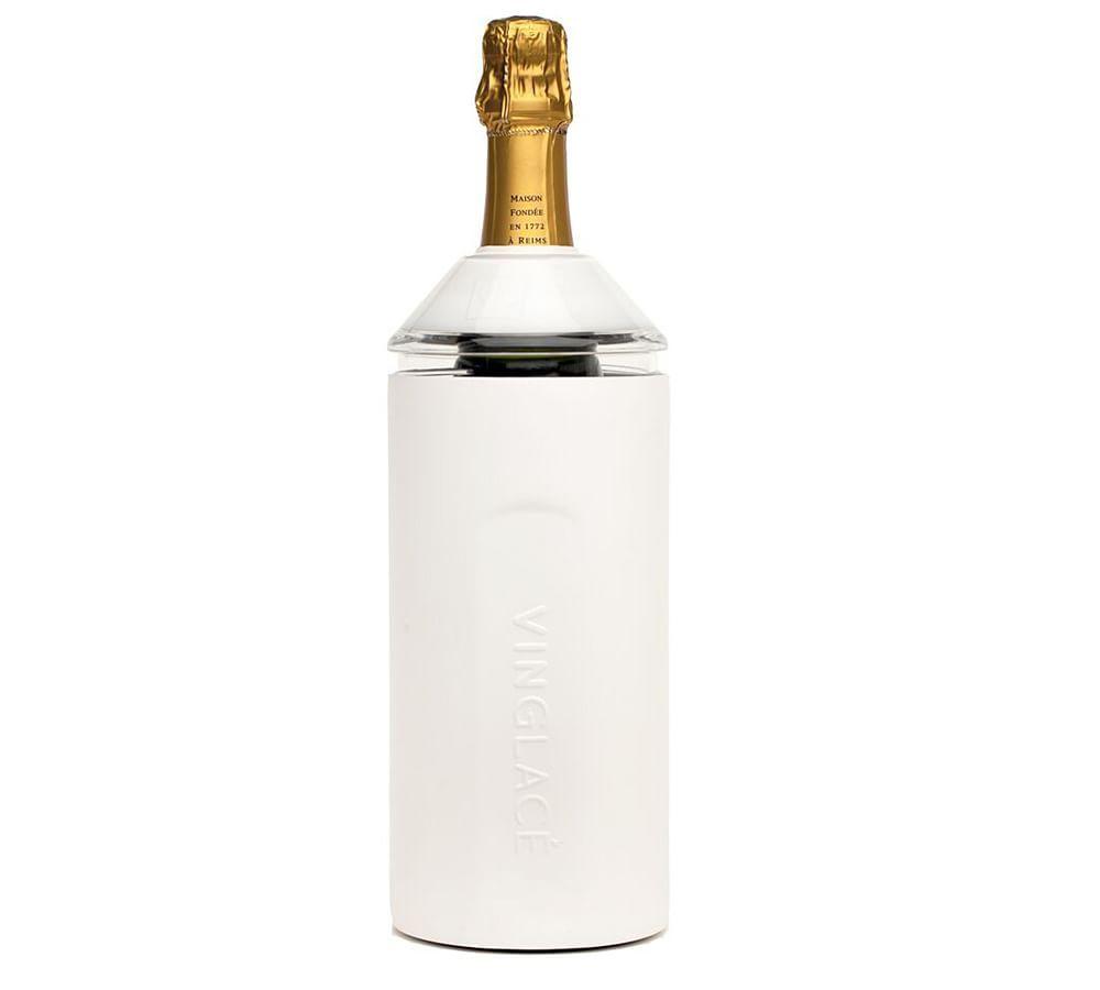 Vinglace Wine Bottle Cooler White Tabletop Wine Accessories Storage Pottery Barn In 2020 Bottle Coolers Bottle Wine Bottle